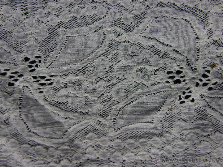 Antigüedades: cinta circular vainica batista ganchillo puño o similar franja sXIX 27,5x9cms - Foto 5 - 52408601