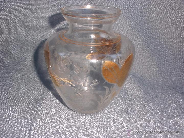 Antigüedades: Jarron o búcaro de Cartagena Santa Lucía Murcia en cristal tallado y oro - Foto 4 - 52415148