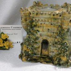 Oggetti Antichi: CERÁMICA DE RUIZ DE LUNA. EXCLUSIVO TINTERO EN FORMA DE CASTILLO, CON ANAGRAMA DE PROPIEDAD.. Lote 98987724
