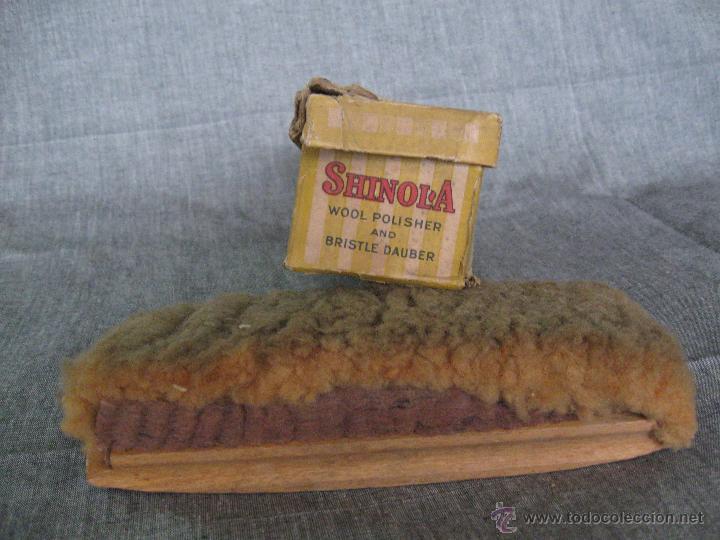 Antigüedades: Cepillo para zapatos con su caja original Shinol'a. Patente 1907 - Foto 4 - 52424678