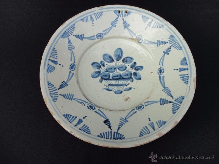 CERÁMICA CATALANA: FUENTE (PLATA) DEL SIGLO XVIII (Antigüedades - Porcelanas y Cerámicas - Catalana)