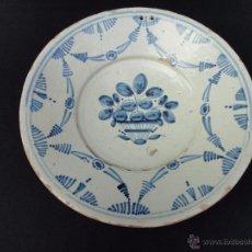Antigüedades: CERÁMICA CATALANA: FUENTE (PLATA) DEL SIGLO XVIII. Lote 52427919
