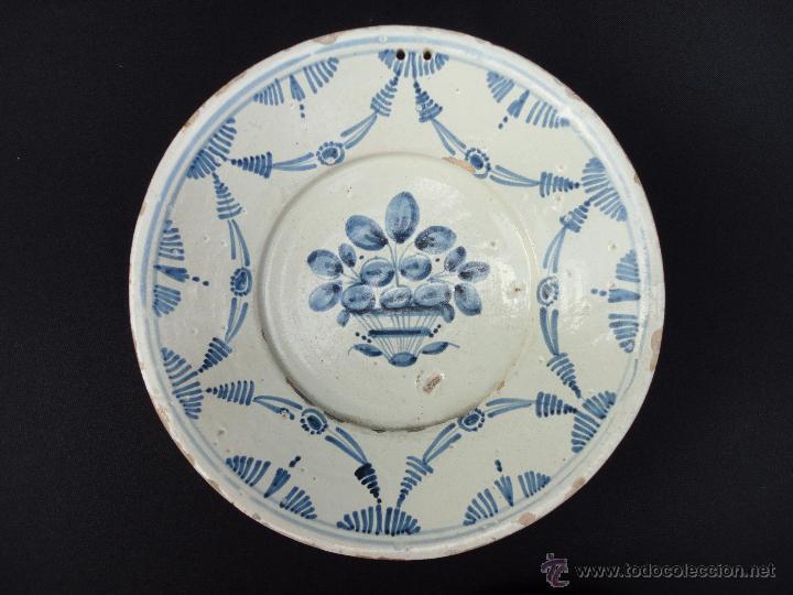 Antigüedades: Cerámica catalana: Fuente (plata) del siglo XVIII - Foto 2 - 52427919