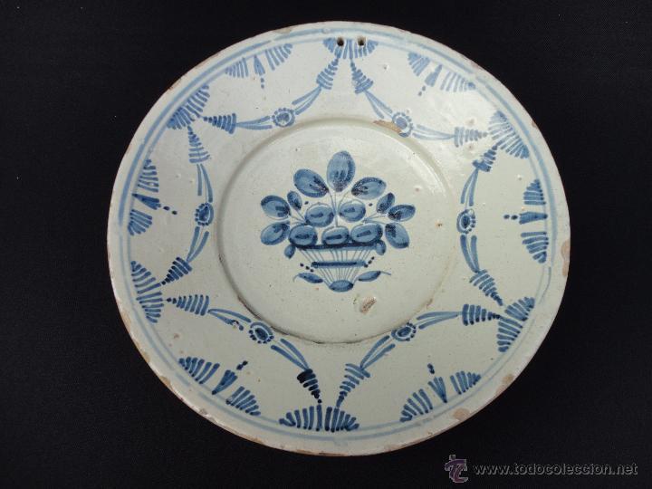 Antigüedades: Cerámica catalana: Fuente (plata) del siglo XVIII - Foto 4 - 52427919