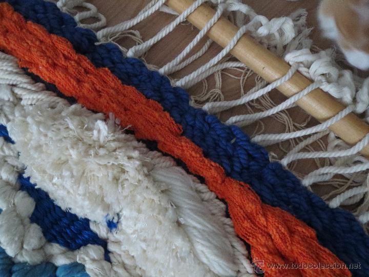 antigedades tapiz de lana y seda tejido a mano en marruecos hace aos
