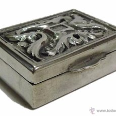 Antigüedades: ANTIGUA CAJITA EN PLATA REPUJADA CONTRASTE 915 - S.XX. Lote 52438381