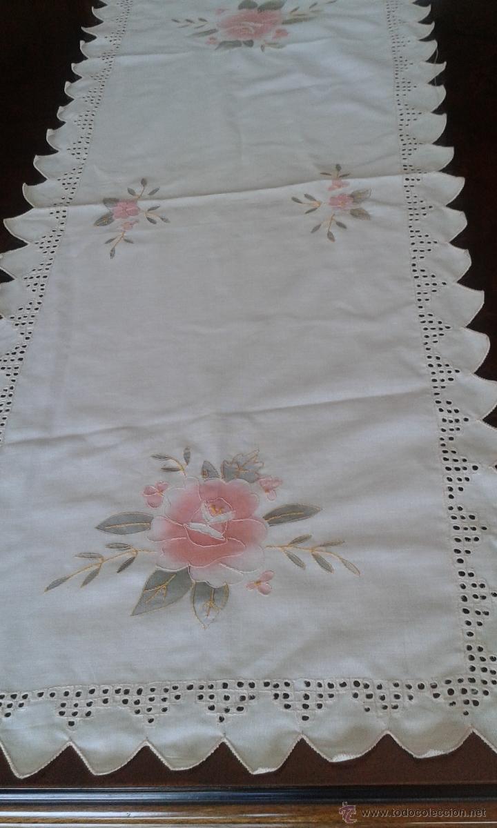 Camino de mesa bordado a mano comprar en todocoleccion - Caminos de mesa de papel ...