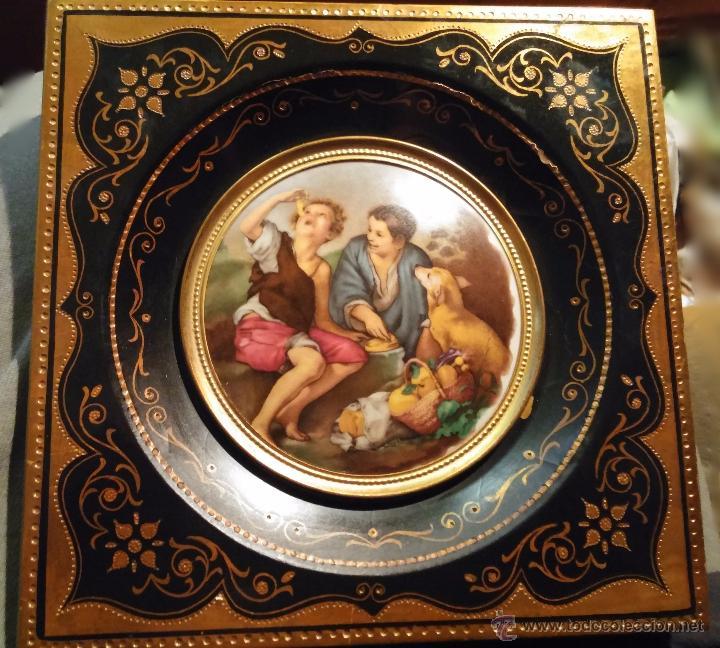 medallón de porcelana escena de murillo en marc - Comprar Marcos ...