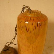 Antigüedades: LAMPARA DE CRISTAL TIPO MURANO. Lote 52447302