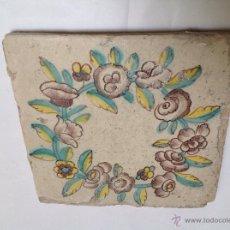 Antigüedades: AZULEJO EN CERÁMICA VALENCIANA S XVIII. Lote 52449616