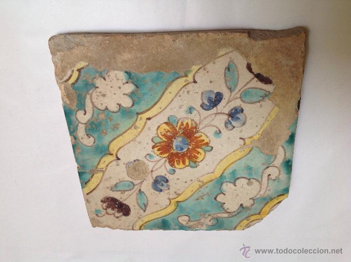 AZULEJO EN CERÁMICA VALENCIANA S XVIII (Antigüedades - Porcelanas y Cerámicas - Alcora)