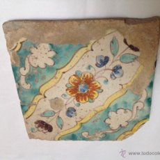 Antigüedades: AZULEJO EN CERÁMICA VALENCIANA S XVIII. Lote 52449661
