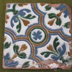 Antigüedades: AZULEJO ANTIGUO DE TOLEDO. ARISTA. RENACIMIENTO - SIGLO XVI.. Lote 52455323