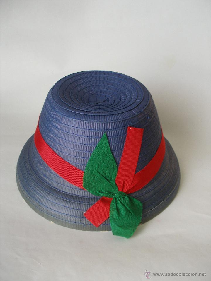 1c921756 Antiguo sombrero niña , paja hecho a mano años 20 , Sin uso con etiqueta