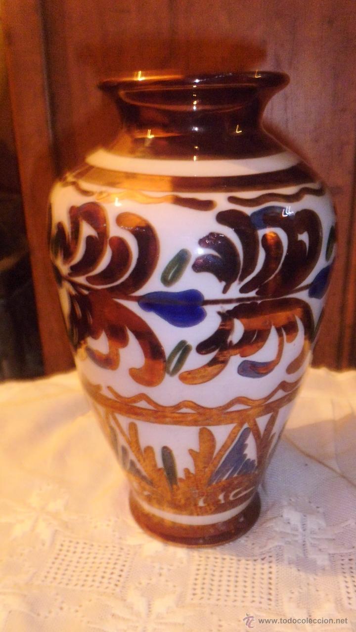 JARRON DE MANISES . (Antigüedades - Porcelanas y Cerámicas - Manises)