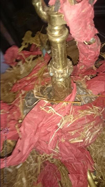 Antigüedades: LAMPARA EN EMBALAJE ORIGINAL SIN USO BRONCE Y CRISTAL - Foto 4 - 52478023