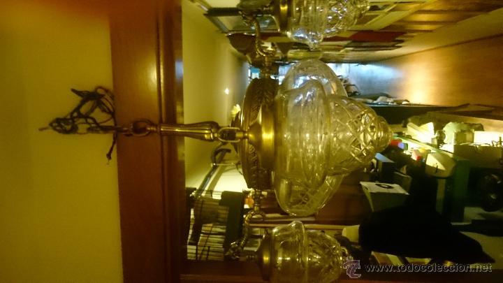 Antigüedades: LAMPARA EN EMBALAJE ORIGINAL SIN USO BRONCE Y CRISTAL - Foto 13 - 52478023