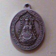 Antigüedades: RARA MEDALLA ALUMINIO NUESTRA SEÑORA DE CONSOLACION UTRERA. Lote 52480165