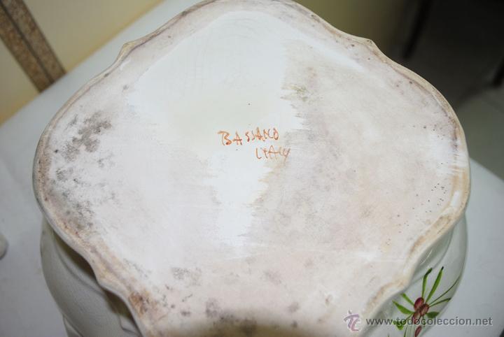 Antigüedades: SOPERA ANTIGUA CON FUENTE PINTADA A MANO - Foto 10 - 52503784