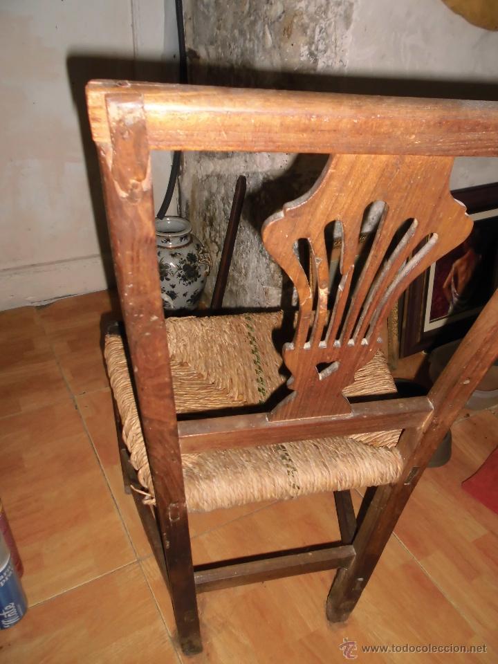 Original antigua silla valenciana madera s xix comprar sillas antiguas en todocoleccion - Restaurar sillas de madera ...