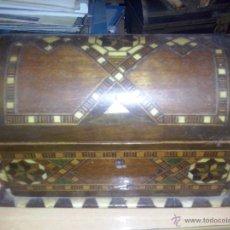 Antigüedades: CAJA MADERA Y TARACEA. Lote 52515561