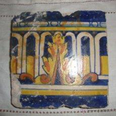 Antigüedades: AZULEJO SIGLO XVI O XVII PINTADO (RARO). Lote 52520594