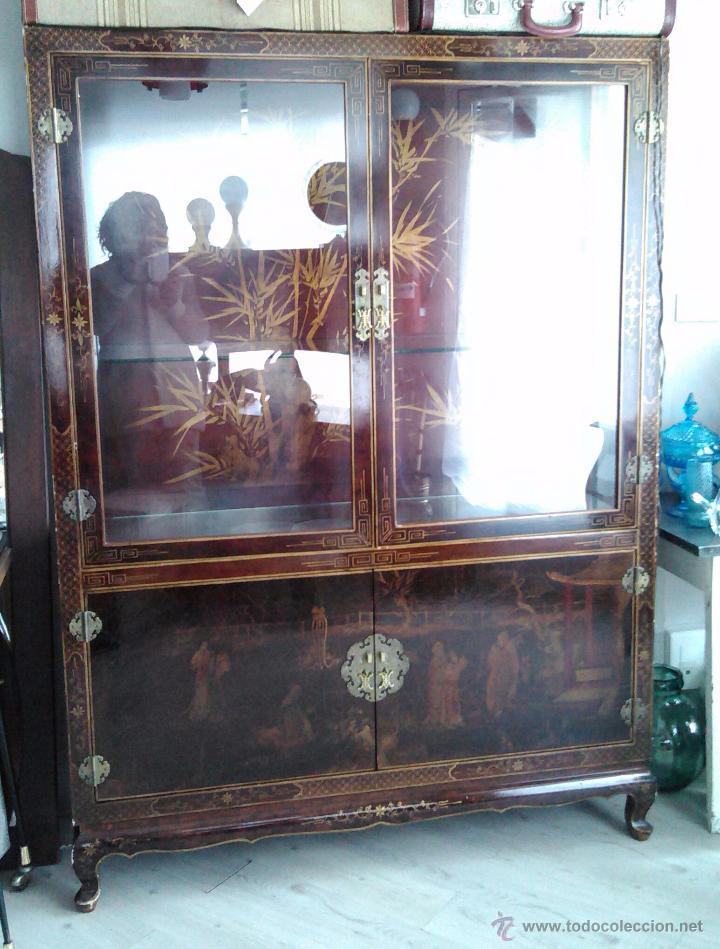 Mueble aparador vitrina oriental mid century vi comprar - Muebles orientales segunda mano ...