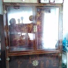 Antigüedades: MUEBLE APARADOR VITRINA ORIENTAL MID CENTURY VINTAGE. Lote 52521355