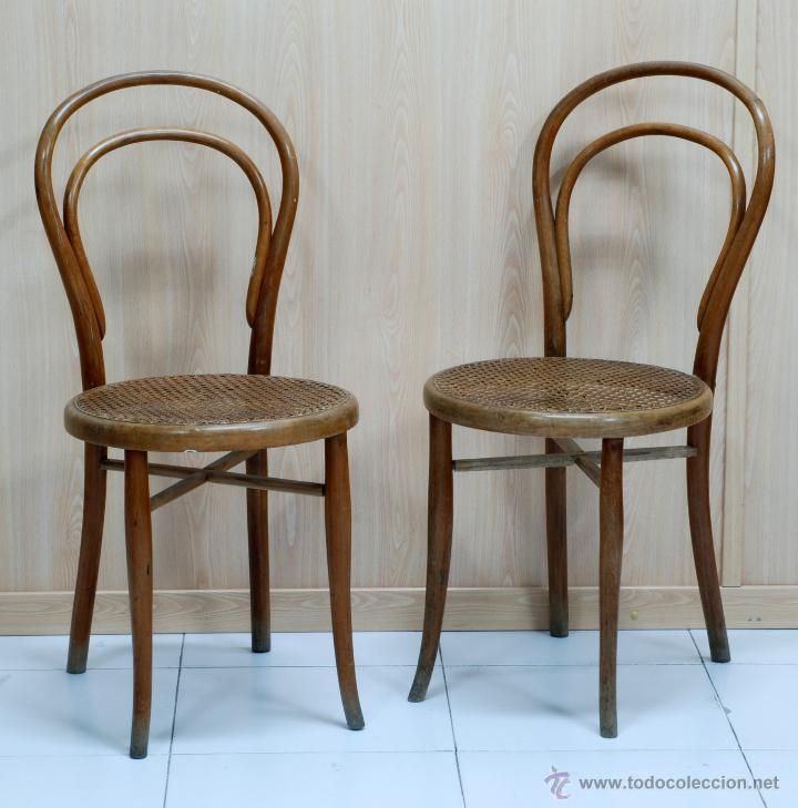 Pareja sillas silla thonet n 14 originales con comprar for Sillas originales