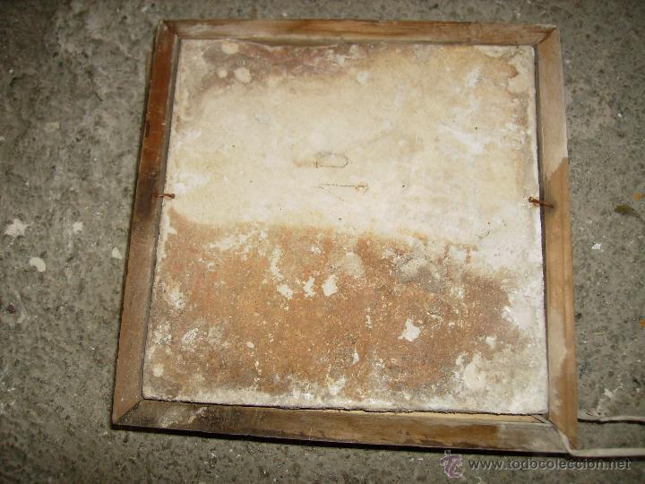 Antigüedades: **ANTIGUO AZULEJO HIDRAULICO ENMARCADO (20 x 20 cm)TAL Y COMO SE VE EN LA FOTO** - Foto 2 - 52541438