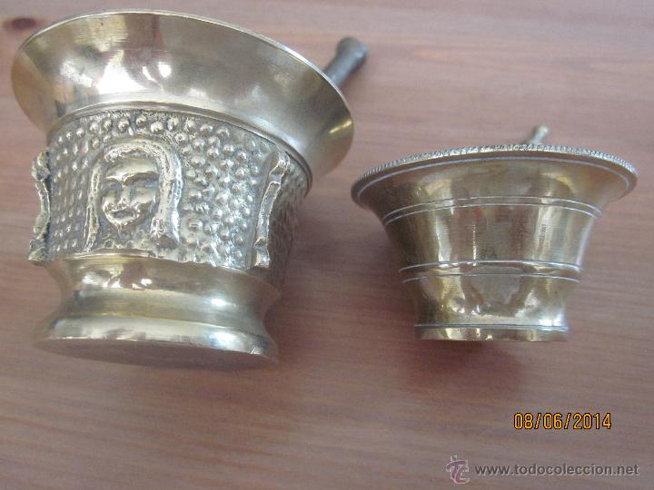 Antigüedades: lote 4 morteros - Foto 8 - 52548046