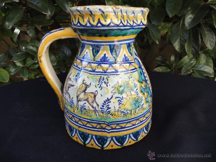 CERÁMICA ANDALUZA: JARRA DE TRIANA SIGLO XIX (Antigüedades - Porcelanas y Cerámicas - Triana)