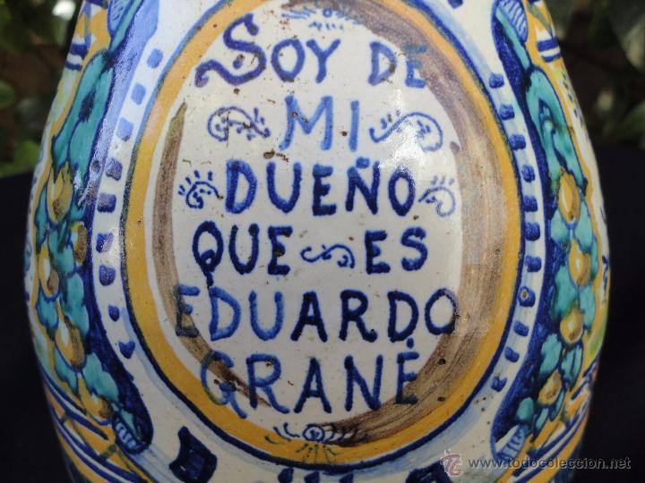 Antigüedades: Cerámica andaluza: Jarra de Triana siglo XIX - Foto 3 - 52550368