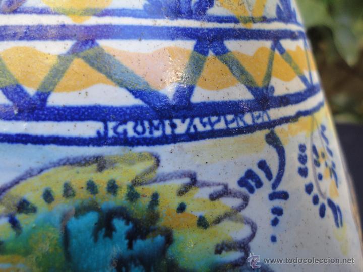 Antigüedades: Cerámica andaluza: Jarra de Triana siglo XIX - Foto 6 - 52550368