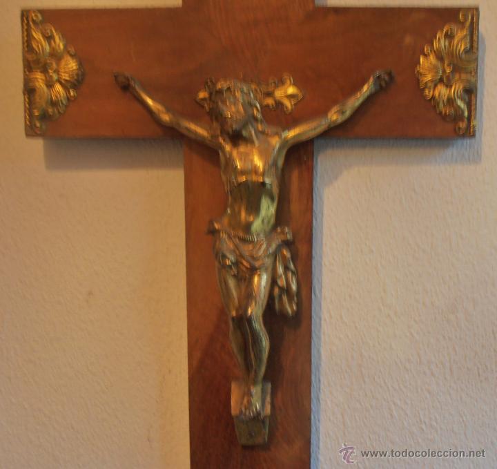 Antigüedades: CRUCIFIJO, CRISTO EN LA CRUZ, CRUZ DE MADERA CON CRISTO - Foto 3 - 52554268