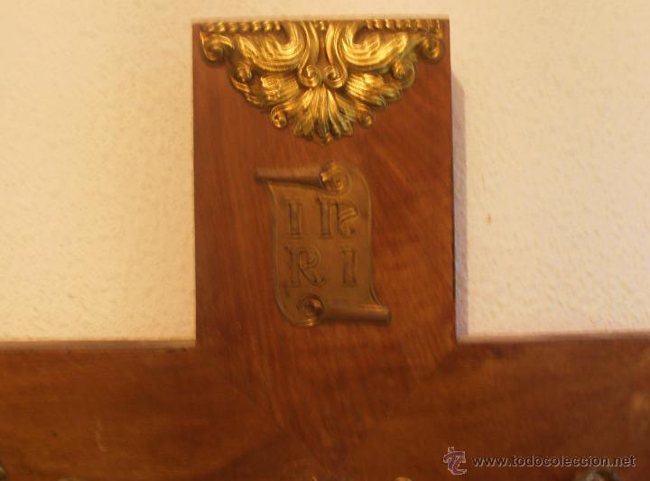 Antigüedades: CRUCIFIJO, CRISTO EN LA CRUZ, CRUZ DE MADERA CON CRISTO - Foto 4 - 52554268