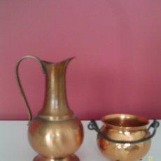 Antigüedades: LOTE DE VARIADO VASIJAS EN ´´COBRE´´-HERMOSO. Lote 52573276