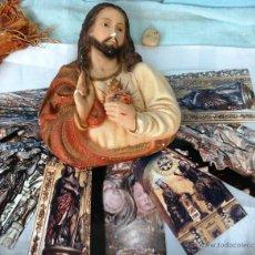 Antigüedades: CRISTO VIEJO EN ESCAYOLA. ABANDONADO HACE MUCHO TIEMPO... Lote 52574994