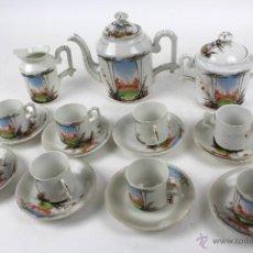 Antiquitäten - JUEGO DE CAFE EN PORCELANA PINTADA A MANO. PRINCIPIOS SIGLO XX - 52578157
