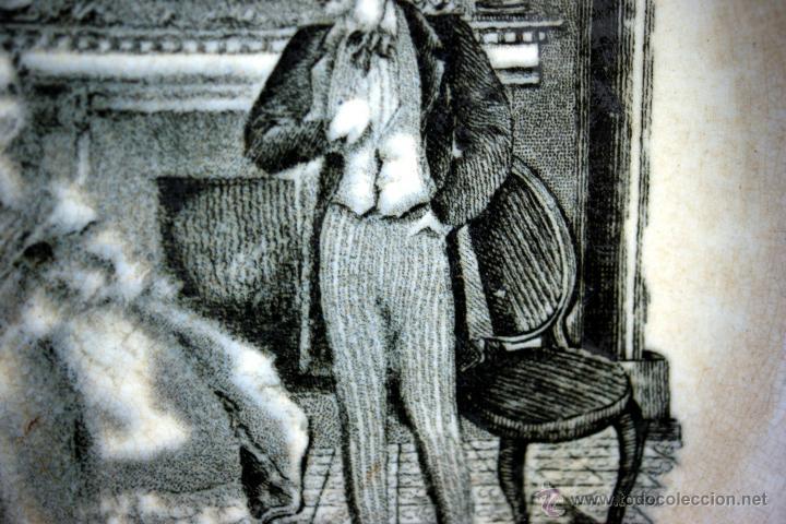Antigüedades: PLATO DE CARTAGENA CON ESCENA COSTUMBRISTA - 1845 - 1893 - S. XIX - Foto 5 - 52579689