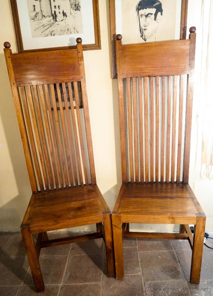 pareja de sillas antiguas de roble dise o frank comprar