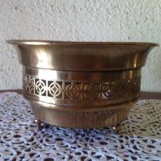 Antigüedades: CENTRO DE LATÓN O BRONCE MIDE 19 CM DE DIÁMETRO . Lote 52601128