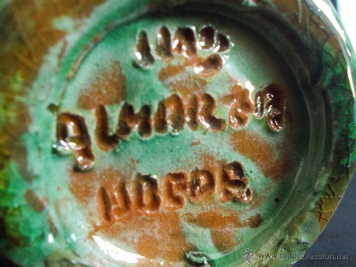 Antigüedades: ORIGINAL BOTIJO EN FORMA DE GALLO, DE LA ALFARERÍA ALMARZA (ÚBEDA), EN CERÁMICA VIDRIADA. - Foto 7 - 52601160