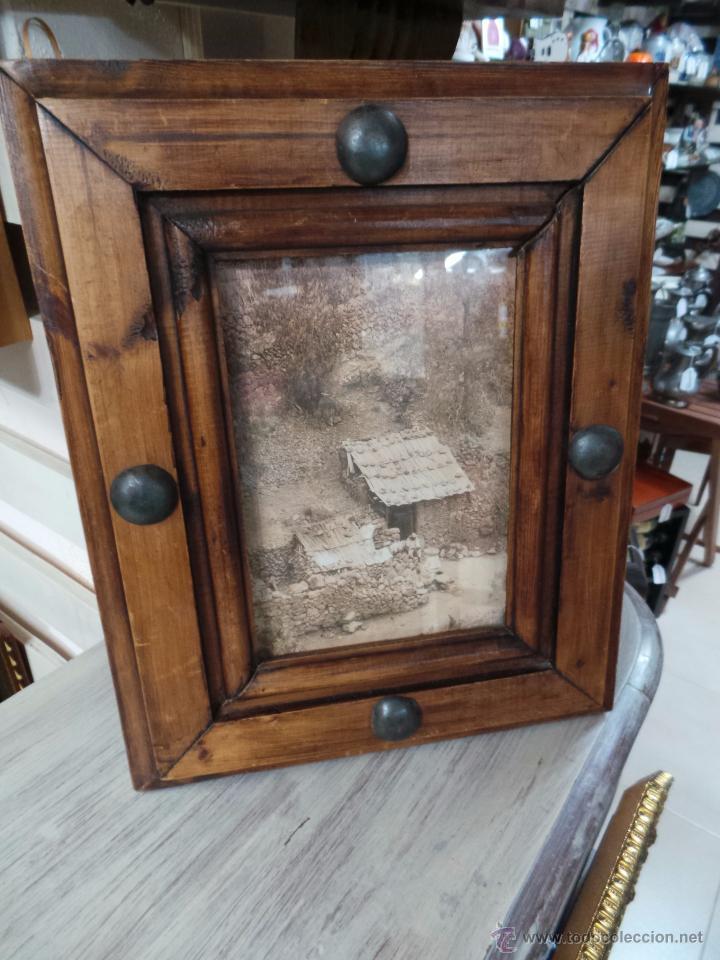 rustico cuadro con marco en madera maciza - Comprar Marcos Antiguos ...