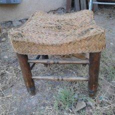 Antigüedades: BANQUETA DE ESPARTO. Lote 52613338