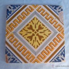 Antigüedades: ANTIGUO AZULEJO DE 20 X 20 CM. Lote 52621070