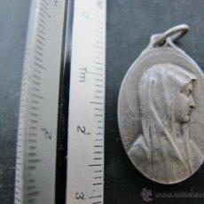 Antigüedades: MEDALLA RELIGIOSA ANTIGUA VIRGEN INMACULADA VIRGEN DE LOURDES PLATA. Lote 52621159