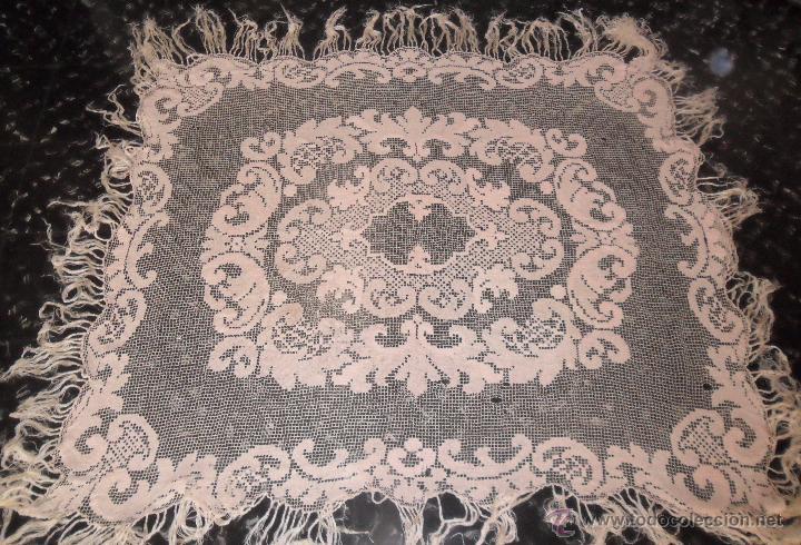 Antigüedades: Encaje de red - mantel años 20 - Foto 2 - 52622402