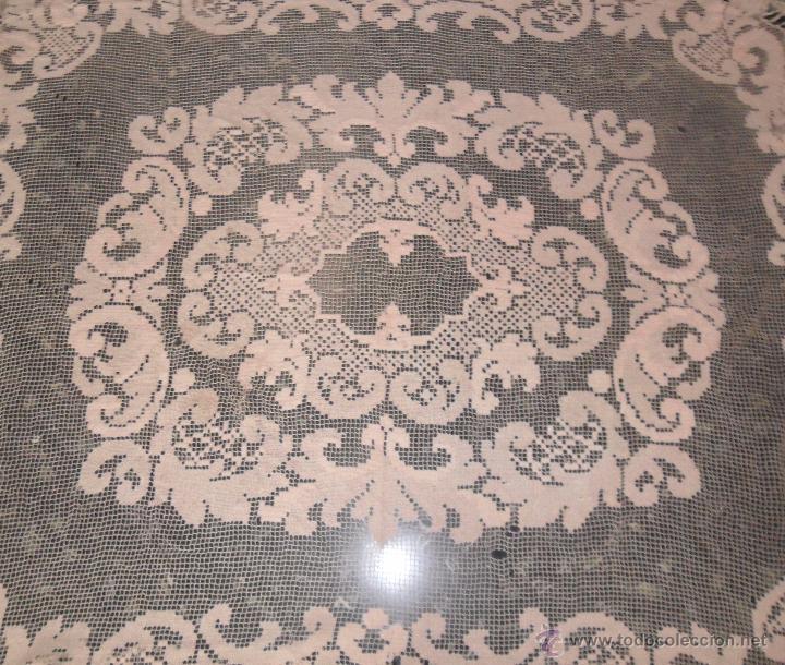 Antigüedades: Encaje de red - mantel años 20 - Foto 4 - 52622402