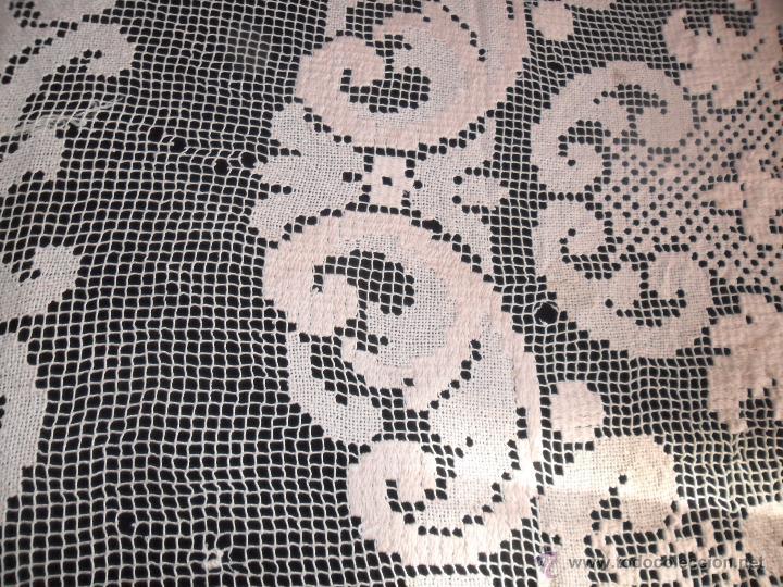Antigüedades: Encaje de red - mantel años 20 - Foto 7 - 52622402